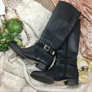 Louise et Cie Tall Black Leather Boots
